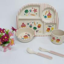 Набор посуды, бамбук. 5 предметов