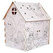 """Дом-раскраска из картона """"Пожарная станция"""" и """"Милые принцессы"""""""
