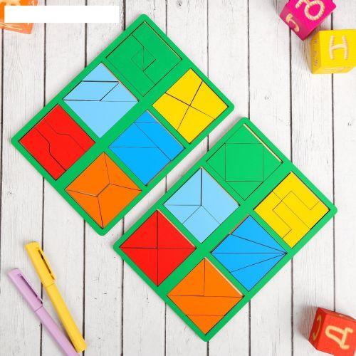Логическая игра «Сложи квадрат» Б.П.Никитин, 1 уровень (мини)