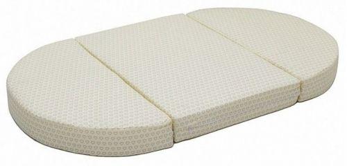 Матрас Farfello трансформер для круглой и овальной кроватки холо-кокос 125*75*10