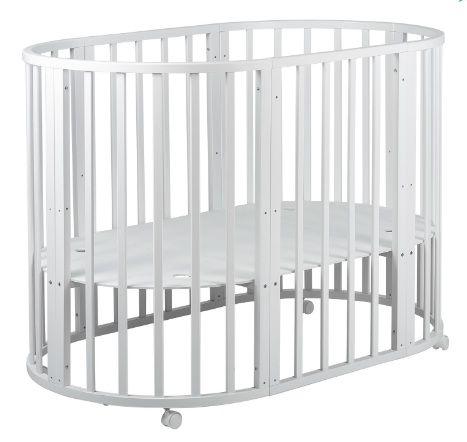 Кровать трансформер 8 в 1 Круг/Овал (Белая)